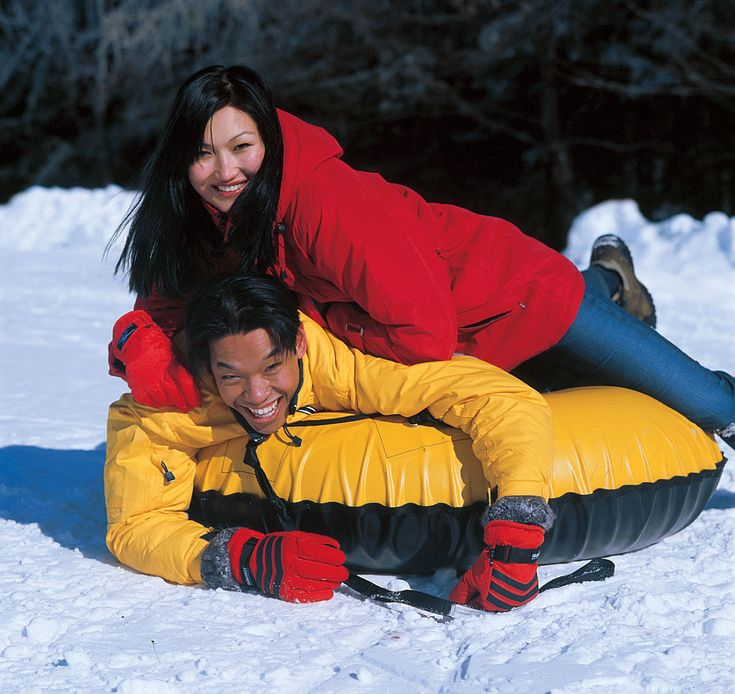 Winter Snow Tubing