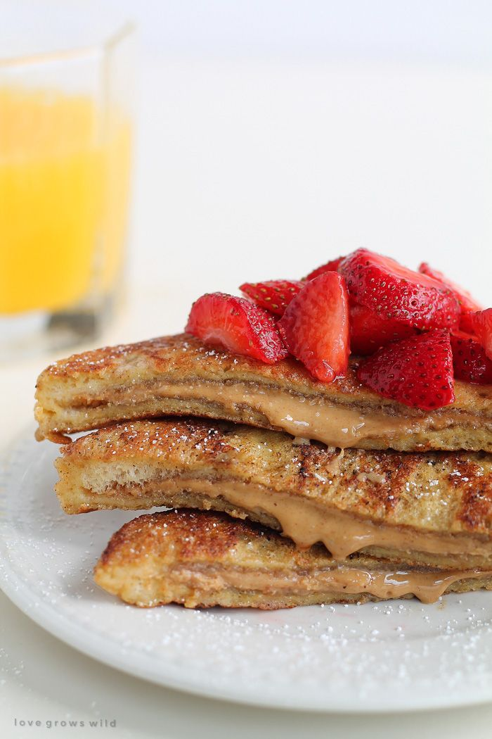 Peanut Butter Stuffed French Toast | Funtastical Food | Pinterest