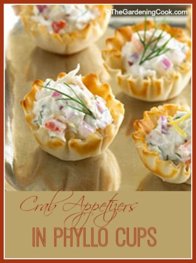 Phyllo Cup Crab Appetizers with Cream Cheese - The Gardening Cook