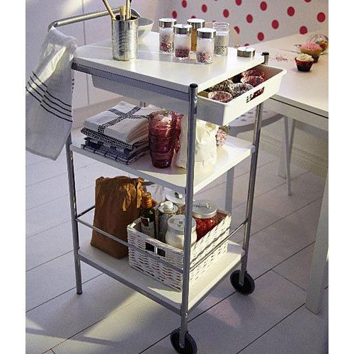Utility Cart IKEA Bygel Kitchen or Multi Use Island Organizer New