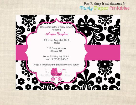 Black And White Baby Shower Invitations is one of our best ideas you might choose for invitation design