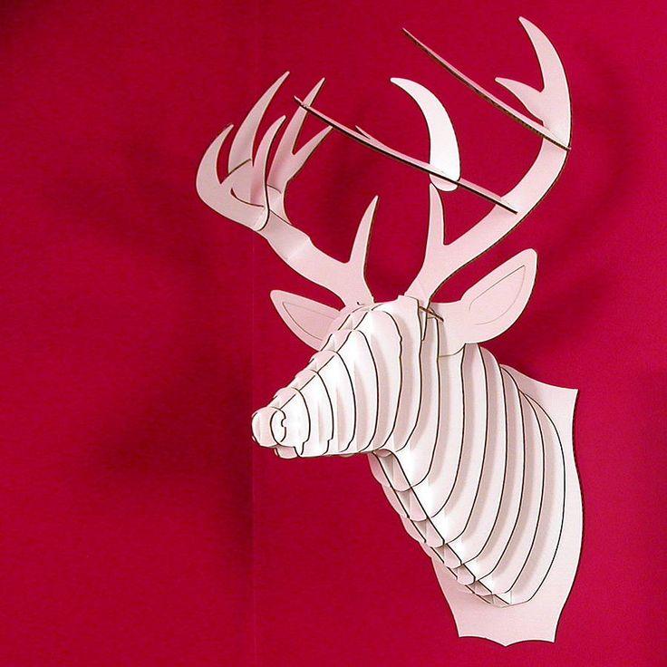 Bucky the deer cardboard trophy head - Cardboard stag head ...