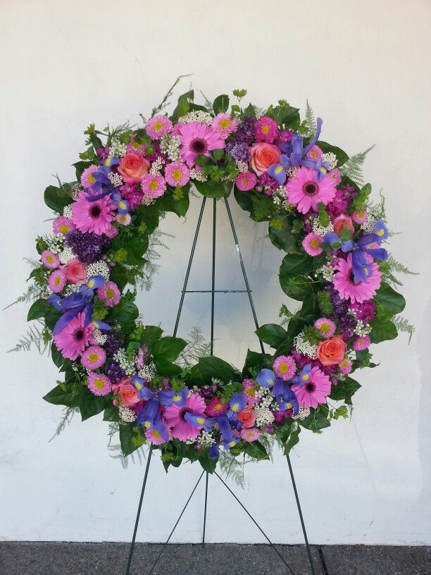 Pink blue purple flower arrangement my flower for Pink and blue flower arrangements