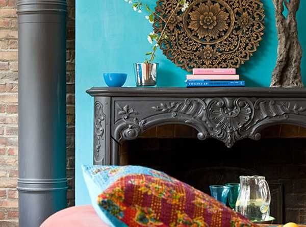 Bold rich room colors indigo turquoise purple hot pink emerald green dark red brown and - Chic bohemian apartment decorating ideas creating unique feel ...