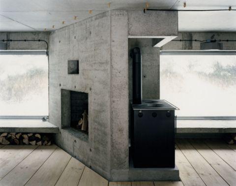 Cement Fireplace Fireplace Pinterest