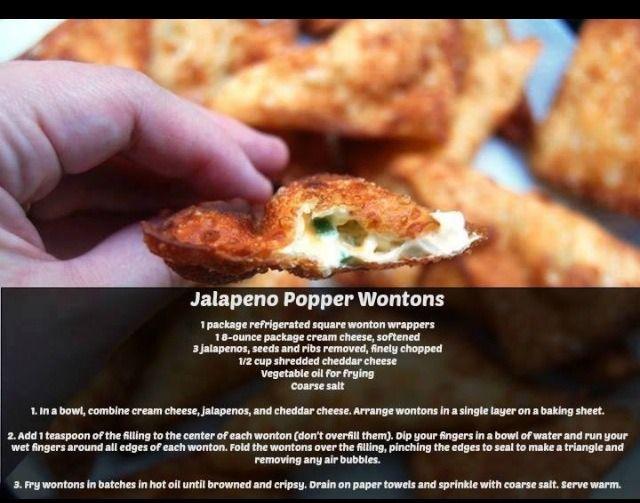 Jalapeño Popper Wontons. Please Like! | Food and Drinks☕️ ...