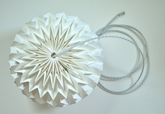 white textured paper ball