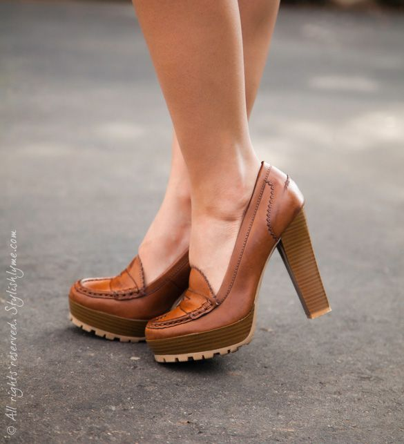 Heeled Loafer Shoes