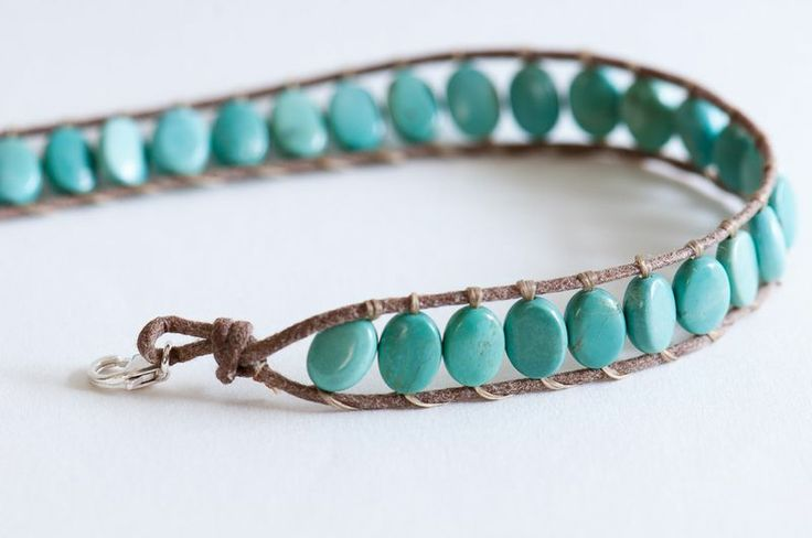 Beaded bracelet tutorial.