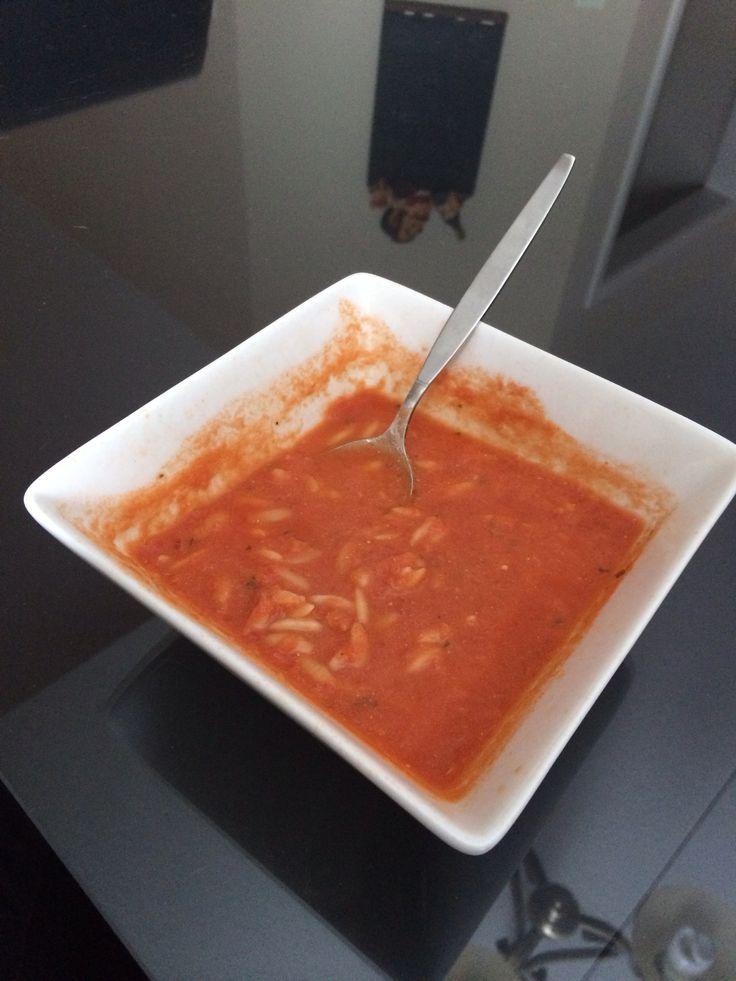 Creamy Tomato Orzo Soup   food.   Pinterest
