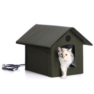 Outdoor Heated Kitty House | Overstock™ Shopping - The Best Prices ...