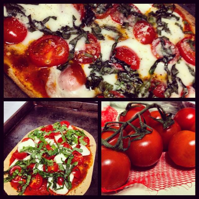 Tomato Basil Pizza   Food!   Pinterest