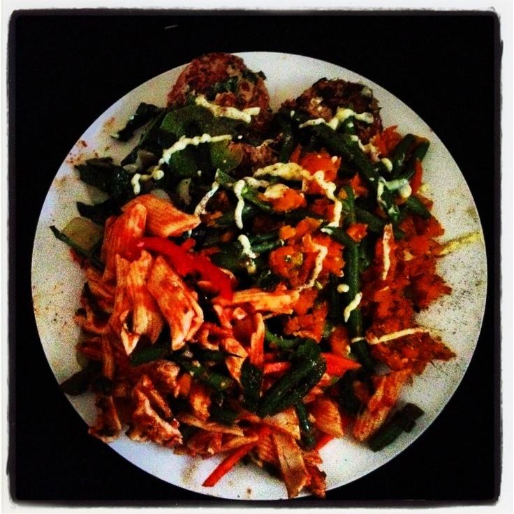 cottage cheese, kale, basil, parsley) Sautéed kale, mushroom, garlic ...