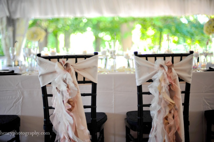 Ruffle Decor For The Bride Grooms Chairs Columbus Ohio Wedding