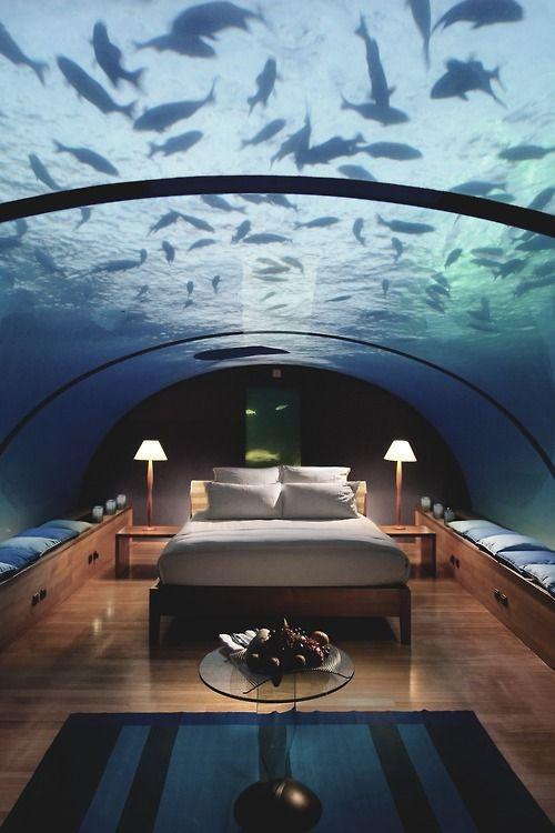 underwater bedroom conrad maldives rangali island hotel sleep with