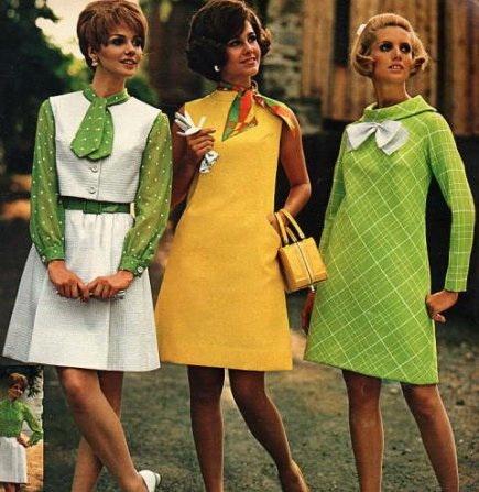Платья в 70-х годах