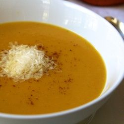 Homemade pumpkin soup made with Gruyere - comfort food for fall or ...