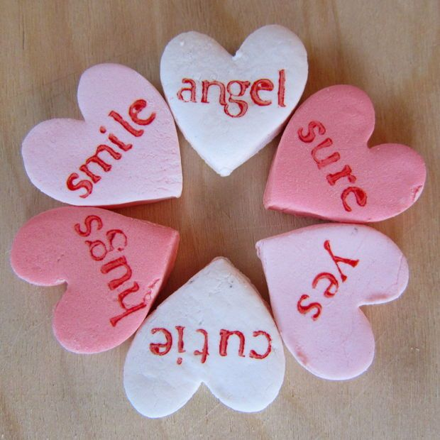 Diy conversation hearts | If only I could cook... | Pinterest