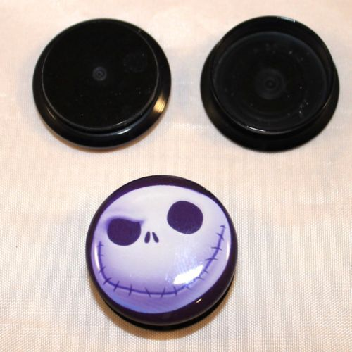 PAIR-Nightmare Before Christmas Jack Ear Gauges- Acrylic Ear Gauges-E ...