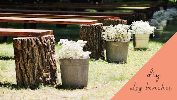 DIY Rustic Wedding Benches  Heres the perfect budgetsaving solution