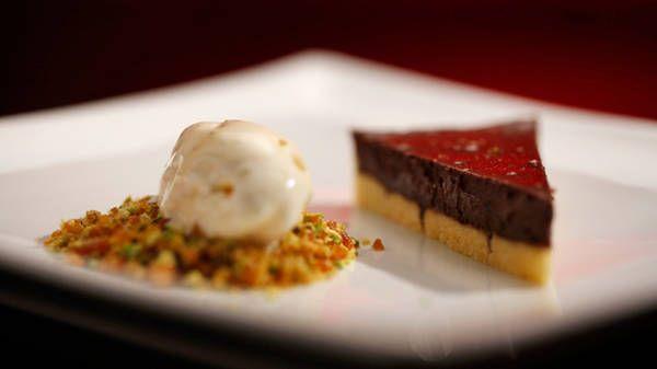 Chocolate Tart with Cinnamon Ice Cream - 2013 My Kitchen Rules - Chris ...