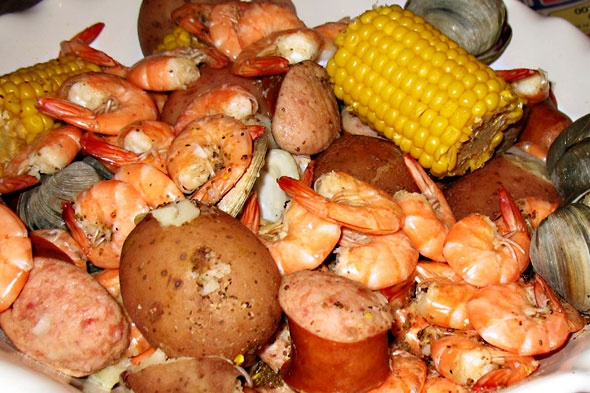 """Frogmore Stew or Low Country Boil - pronounced """"bile""""."""