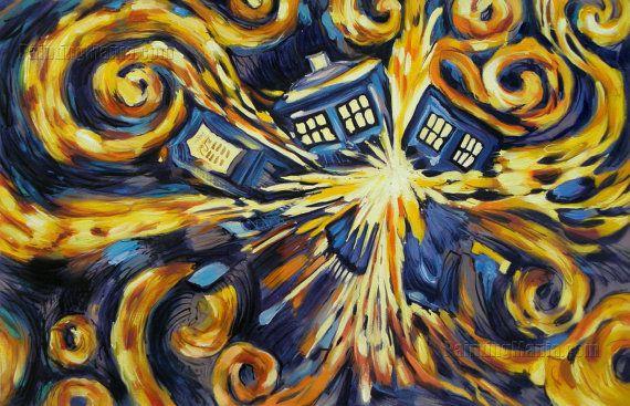 van gogh exploding tardis wwwimgkidcom the image kid