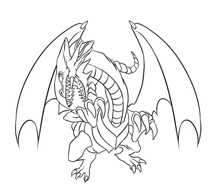 Blue Eyes White Dragon Coloring