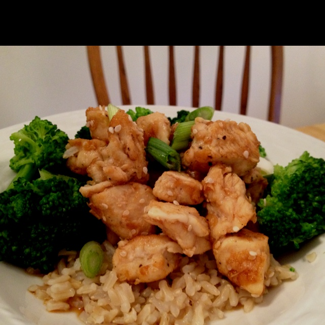 Lighter Sesame Chicken Recipe — Dishmaps