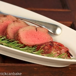 Beef Tenderloin w/ Bacon and Herbs by lizzydo