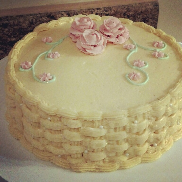 Basket Weaving A Cake : Basket weave cake cakes
