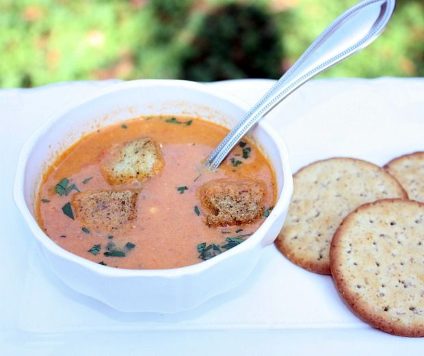 Roasted Tomato and Blue Cheese Soup | Soups, Stews and Sauces | Pinte ...