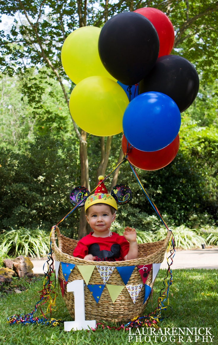 Children's Photography - 1 year old mickey mouse theme