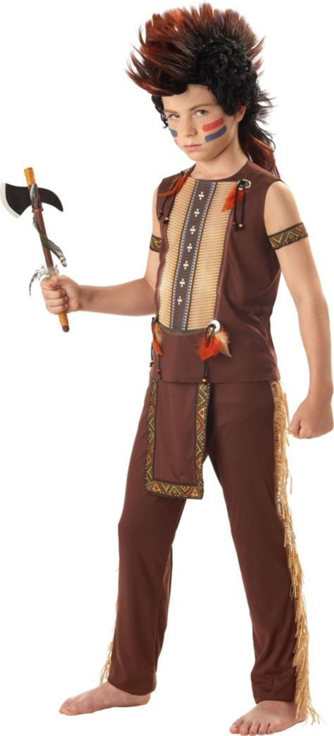 Boys Warrior Native American Costume - Party CityNative American Boy Costume