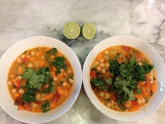 Curried Chickpea and sweet potato soup | Favorite recipes | Pinterest