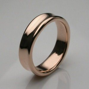 Liquid Slim Ring in Rose Gold - Mens and Womens Wedding Rings ...