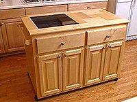 make your own roll away kitchen island kitchen design pinterest. Black Bedroom Furniture Sets. Home Design Ideas
