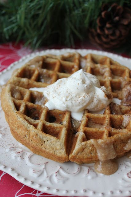 ... : Cinnamon Roll Waffles-delish!! 1/4 of the recipe makes 4 waffles