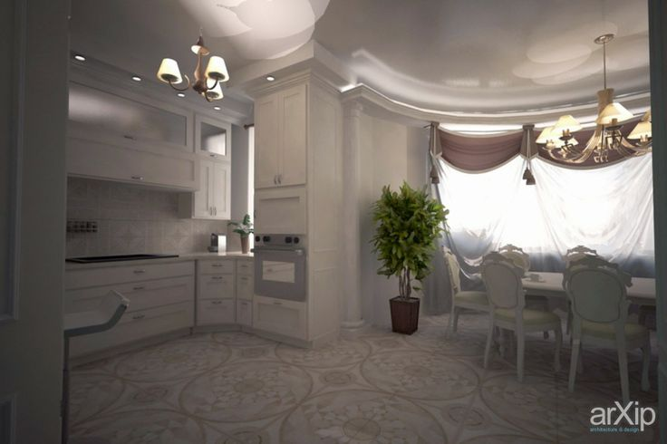 Интерьер столовая в частном доме