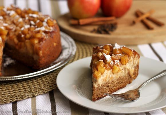 Spiced Apple Cream Cheese Coffee Cake, a luscious combo of apple pie ...