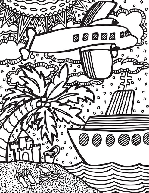 Abstract Doodle Coloring Pages : Abstract doodles summertime freebies