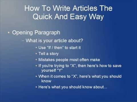 how to write english essays