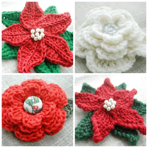 Knitting Patterns For Christmas Brooches : Christmas Brooch Collage Knitting/Crochet Projects Pinterest