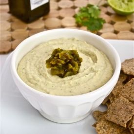 ... bean hummus with fresh cilantro, lime juice, and roasted jalapeno