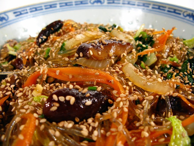 ... Can Fry: Japchae - Korean Noodles with Vegetables (Vegetarian/Vegan