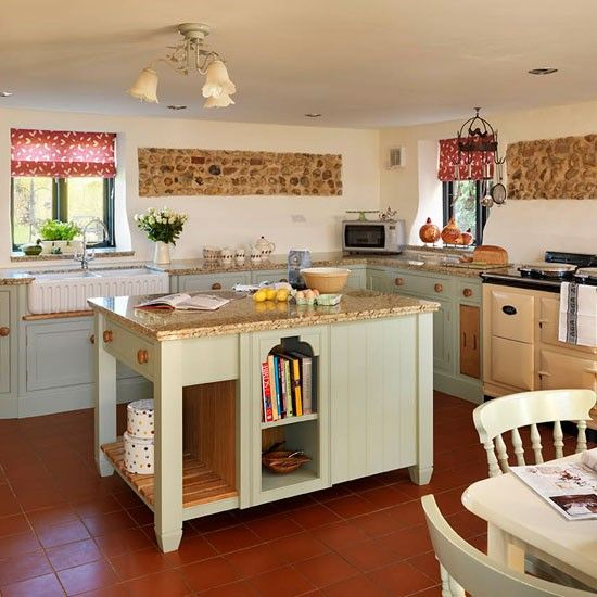 Soft Green Country Kitchen Country Kitchen Pinterest