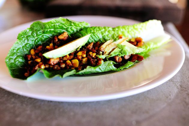 Vegetarian Lettuce Wraps | Recipe