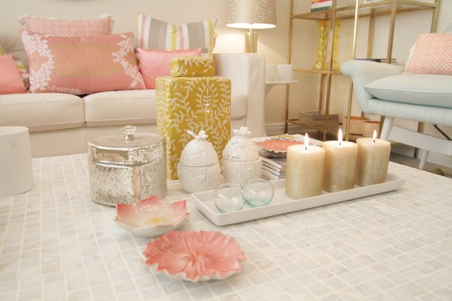 Pink and gold living room for the home pinterest - Pink and gold living room ...