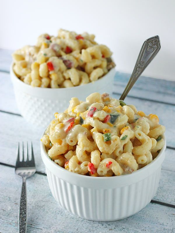 ... vegetables add smoky flavor and a delicious crunch to mac and cheese