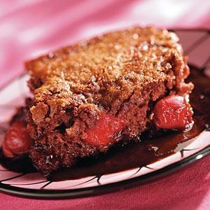 Cherry Chocolate Pudding Cake | Recipe
